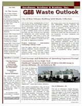 GBB Waste Outlook Newsletter - Fall 2008