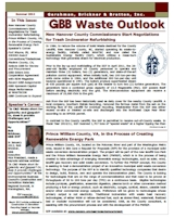 GBB Waste Outlook Newsletter - Fall 2011