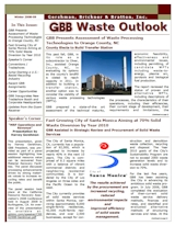GBB Waste Outlook Newsletter - Winter 2008