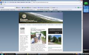 Guam web site screenshot